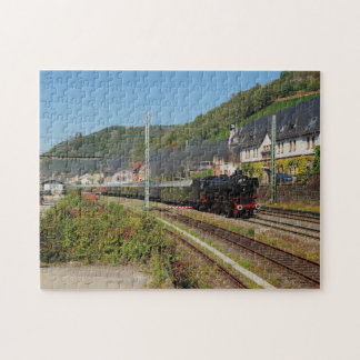 Steam engine with special train in Lorch Jigsaw Puzzle