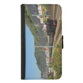 Steam engine with special train in Lorch Samsung Galaxy S5 Wallet Case