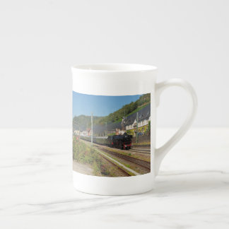 Steam engine with special train in Lorch Tea Cup
