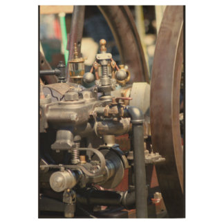 Steam Engine Wood Poster