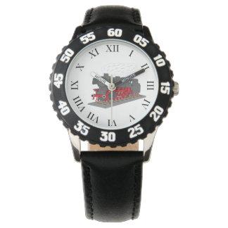 Steam engine wrist watches