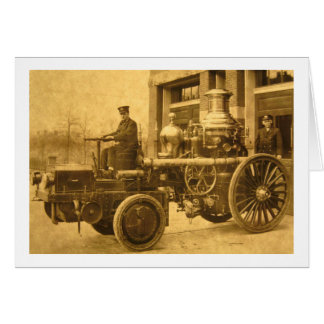 Steam Fire Engine Pumper Truck Greeting Card