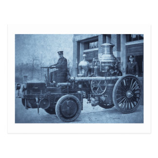 Steam Fire Engine Pumper Truck Postcard