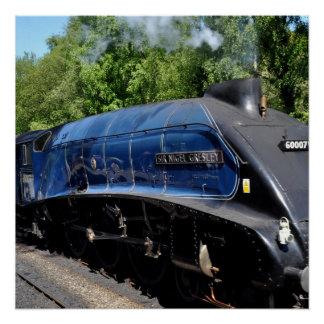 Steam Locomotive 60017 Poster