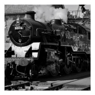 Steam Locomotive 80116 Poster