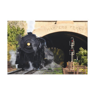 Steam Locomotive at Harpers Ferry Tunnel Canvas Print