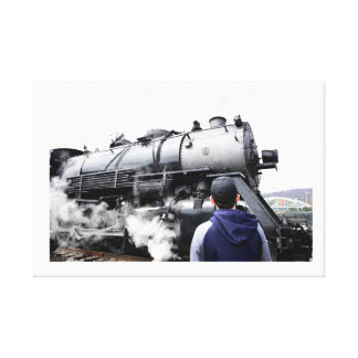 Steam Locomotive Captivation Canvas Print