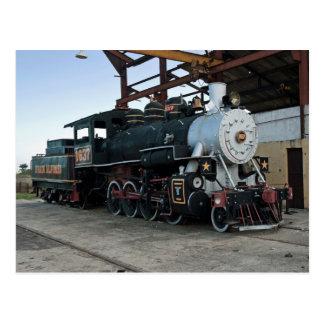 Steam locomotive, Cuba Postcard
