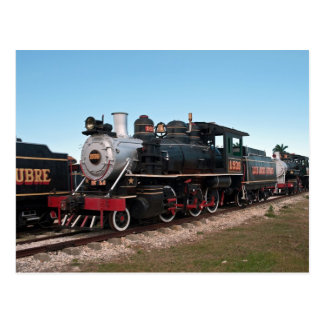 Steam locomotive, Cuba Postcard