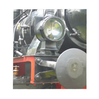 Steam locomotive detail notepad