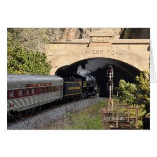 Steam Locomotive Greeting Card
