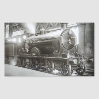 Steam Locomotive (Lady of Avenal) Rectangular Sticker