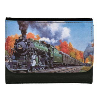 Steam Locomotive Leather Wallet For Women