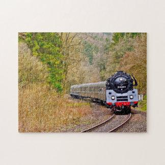 Steam Locomotive Maine. Jigsaw Puzzle