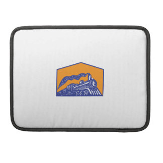 Steam Locomotive Train Coming Crest Retro Sleeve For MacBook Pro