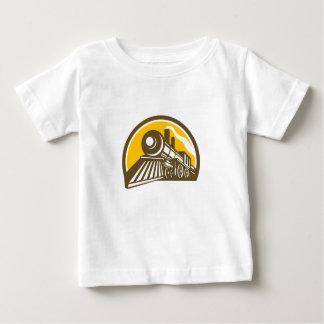 Steam Locomotive Train Icon Baby T-Shirt