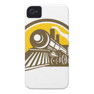 Steam Locomotive Train Icon iPhone 4 Case