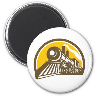 Steam Locomotive Train Icon Magnet