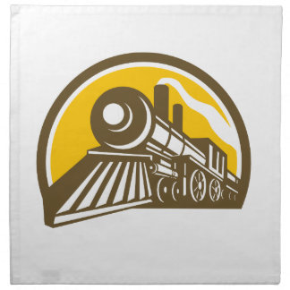 Steam Locomotive Train Icon Napkin
