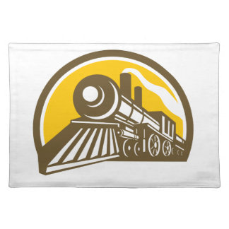 Steam Locomotive Train Icon Placemat