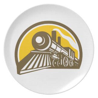 Steam Locomotive Train Icon Plate