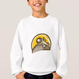 Steam Locomotive Train Icon Sweatshirt