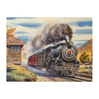 Steam Locomotive Wood Prints