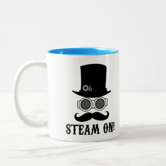 Steam on! Two-Tone coffee mug