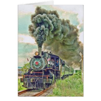 Steam Passenger Train Card