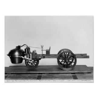Steam-powered car invented posters