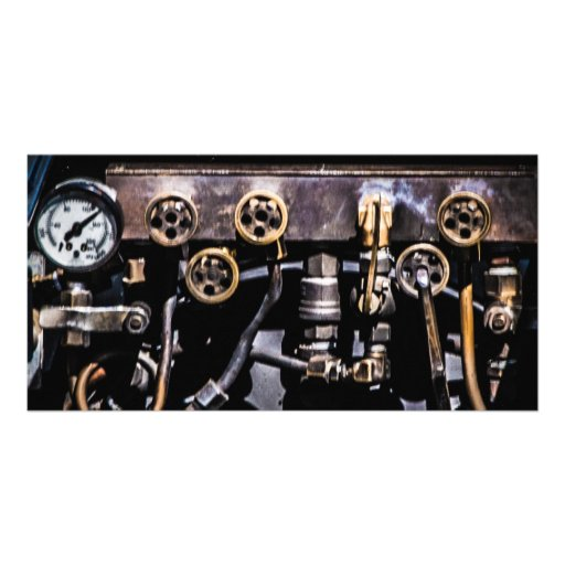 Steam Punk Gears and Gauges Picture Card