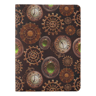 Steam Punk Gears Modern Retro Abstract Pattern Extra Large Moleskine Notebook