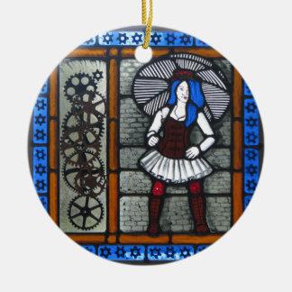 Steam Punk Girl Ceramic Ornament