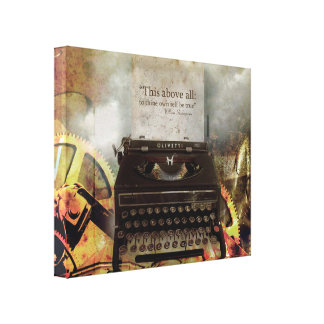 Steam Punk Vintage Typewriter Canvas Print
