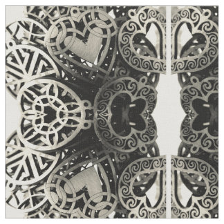 Steam PunkHeart and Gears Fabric