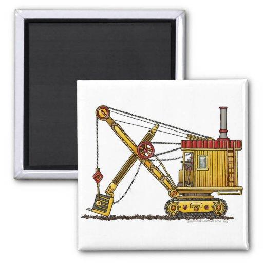 Steam Shovel Digger Construction Magnets