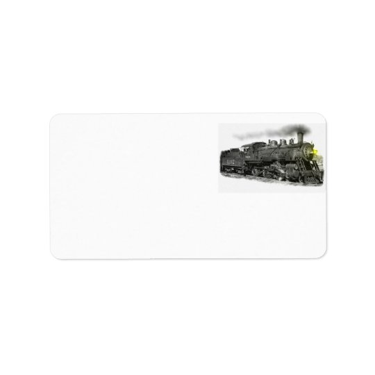 Steam Train Address Label