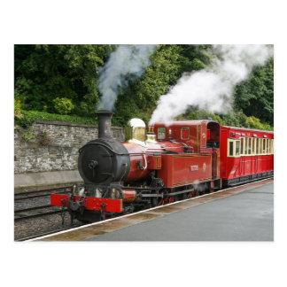 Steam train at Douglas Isle of Man Postcards