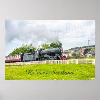 Steam train at the Bo'ness Kinneil Railway poster