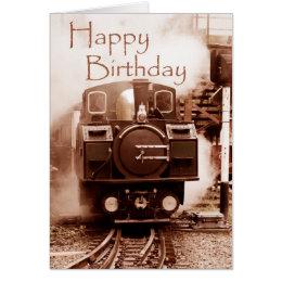 Steam train birthday cards invitations zazzle steam train birthday card bookmarktalkfo Image collections