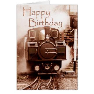 Steam Train Birthday Card