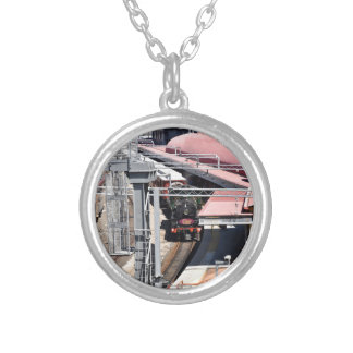 STEAM TRAIN BRISBANE AUSTRALIA SILVER PLATED NECKLACE