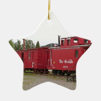 Steam train carriage accommodation, Arizona Ceramic Ornament