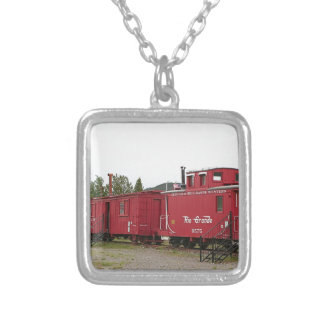 Steam train carriage accommodation, Arizona Silver Plated Necklace