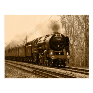 Steam train classic Postcard