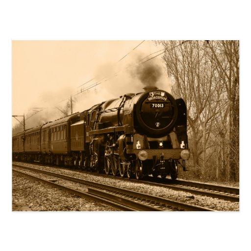 Steam train classic Postcard