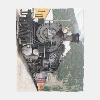 Steam train Colorado 8 Fleece Blanket