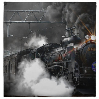 Steam train dark napkin
