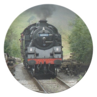 Steam Train Decorative Plate