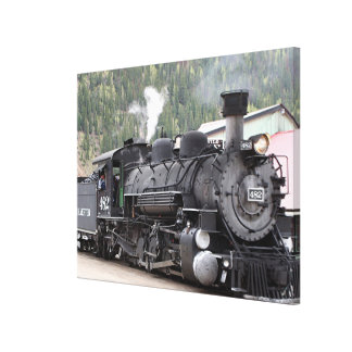 Steam Train engine: Colorado, USA Canvas Print